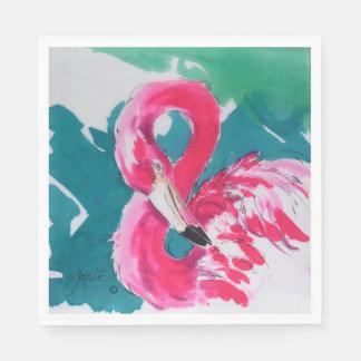 Servilletas rosadas brillantes del fiesta del servilletas desechables