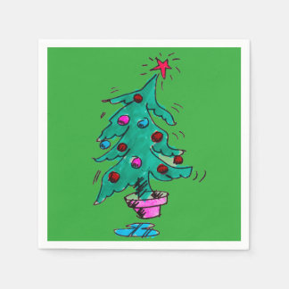 Servilletas tambaleantes del árbol de navidad servilleta de papel