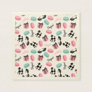 Servilletas temáticas francesas servilleta de papel