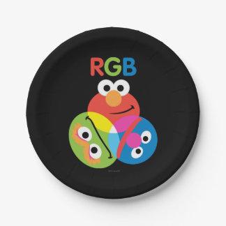 Sesame Street del RGB Plato De Papel