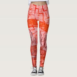 Sesenta sombras de rojo - polainas leggings