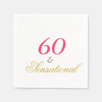 Sesenta y sensacional servilleta de papel