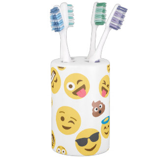 Set De Baño Emojis sonriente loco