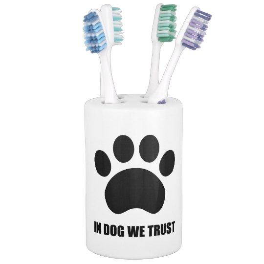 Set De Baño En perro confiamos en el sistema del cuarto de