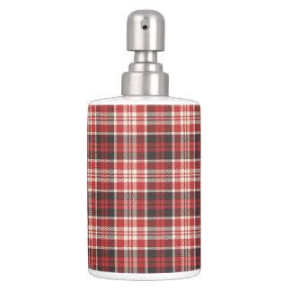 Set De Baño Modelo rojo y negro de la tela escocesa