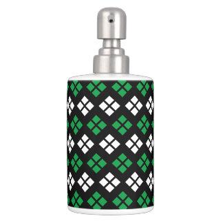 Set De Baño Modelo verde y blanco de Kelly moderno de Argyle