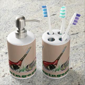 Set De Baño Tenedor del cepillo de dientes del golf y