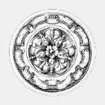 Set De Posavasos Elegante círculo victoriano de medallón floral