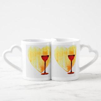 Set De Tazas De Café Amor y vino