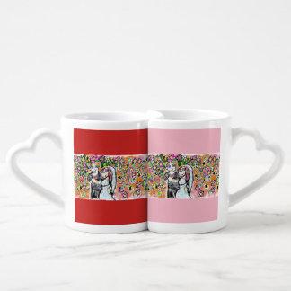 Set De Tazas De Café arte 4 del boda