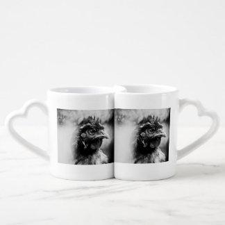Set De Tazas De Café bebidas espirituosas y pollos 2