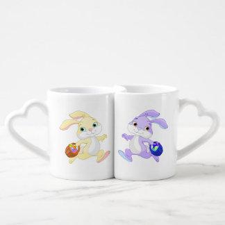 Set De Tazas De Café Conejito de pascua