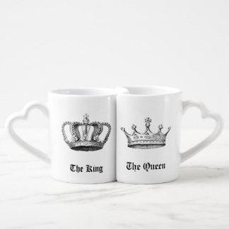 Set De Tazas De Café Coronas personalizadas vintage del rey y de la