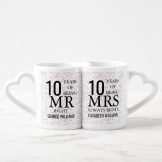 Set De Tazas De Café Cualquie Sr. señora la Right del aniversario