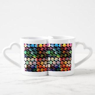 Set De Tazas De Café Diseño gráfico del hexágono abstracto