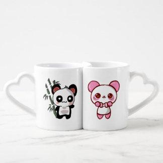 Set De Tazas De Café Duo Pandas Kawaii