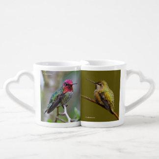 Set De Tazas De Café El colibrí de Ana en el escarlata Trumpetvine