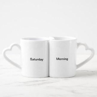 Set De Tazas De Café El sábado por la mañana