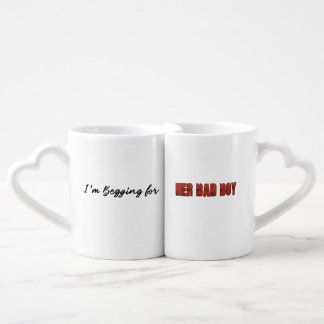 Set De Tazas De Café Estoy pidiendo… Su chico malo