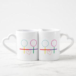 Set De Tazas De Café Lesbiana - amor de los chicas