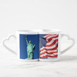 Set De Tazas De Café Libertad y bandera