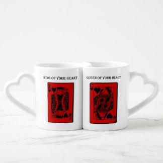 """Set De Tazas De Café Los pares del día de San Valentín del """"rey y de la"""