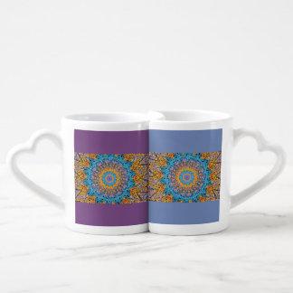 Set De Tazas De Café Mandala #1 determinado