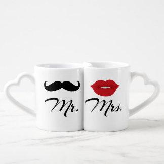 Set De Tazas De Café Mug Set de Sr. y de señora Lovers'