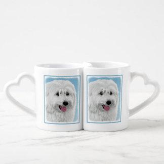 Set De Tazas De Café Perro pastor polaco de la tierra baja