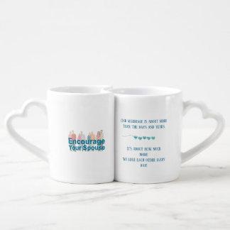 Set De Tazas De Café Prometo amarle más cada día