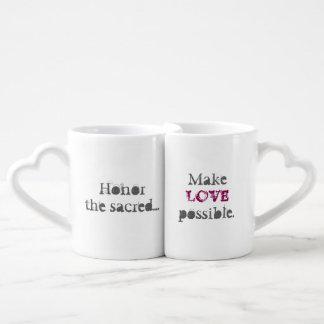 Set De Tazas De Café Quintos sagrados hacen el amor posible