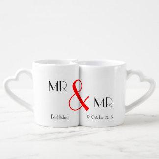 Set De Tazas De Café Regalo de Sr. y de boda de Sr. Gay