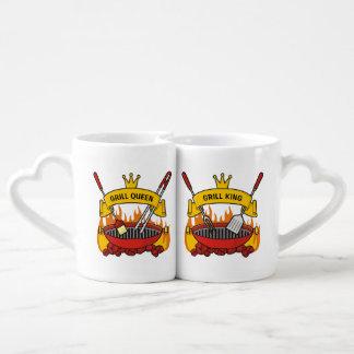 Set De Tazas De Café Reina de la parrilla, rey de la parrilla