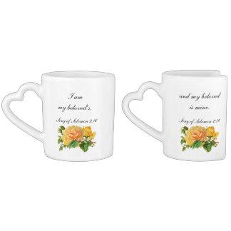 Set De Tazas De Café Soy mi escritura del boda de Beloveds