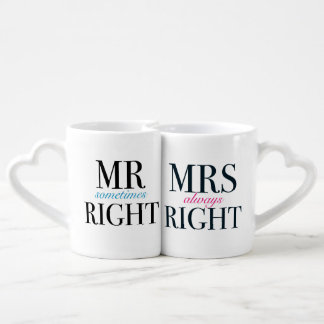 Set De Tazas De Café Sr. Sometimes la Right y señora Always la Right