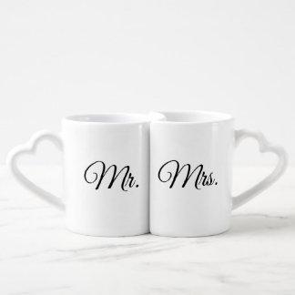 Set De Tazas De Café Sr. y señora Mugs (con las manijas en forma de