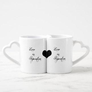 Set De Tazas De Café ¡Tazas de larga distancia del amante de la tarjeta