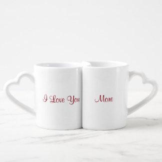 Set De Tazas De Café Te amo más