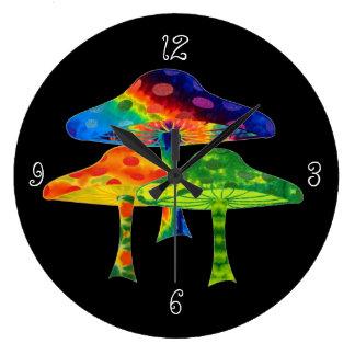 Seta psicodélica reloj redondo grande