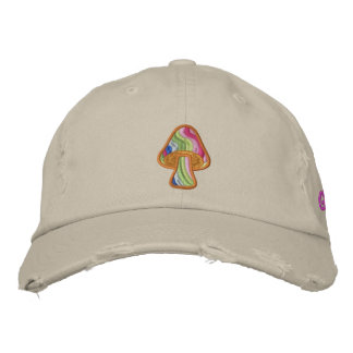 Seta rayada del Hippie Gorras Bordadas