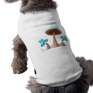 Setas azules camisetas de perrito