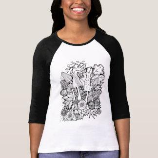 Setas fantásticas de la flor del bosque camiseta