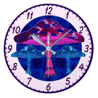 Setas psicodélicas reloj redondo grande