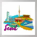 Seul - Korea.png del sur Impresiones