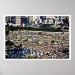 Seul - la pieza de la pared vieja separa viejo y n posters