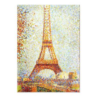 Seurat: La torre Eiffel Invitación 12,7 X 17,8 Cm