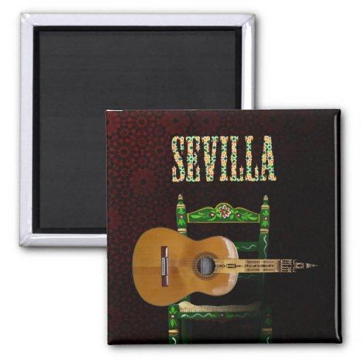 Sevilla Guitarra española con Giralda de Sevilla Iman