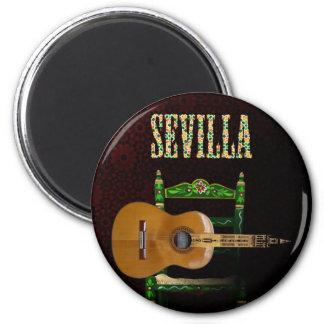 SEVILLA. Guitarra flamenca con Giralda de Sevilla. Iman De Frigorífico