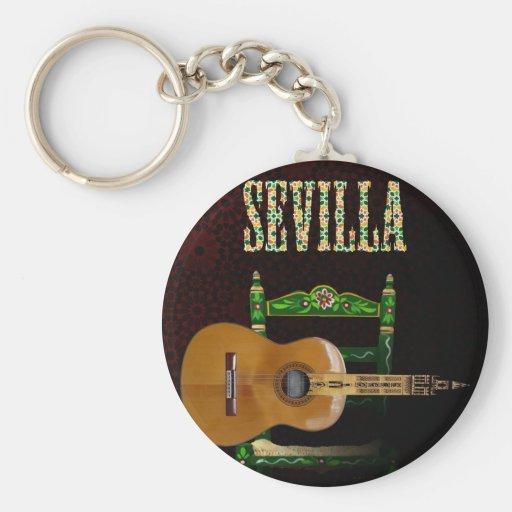 SEVILLA. Guitarra flamenca con Giralda de Sevilla. Llavero