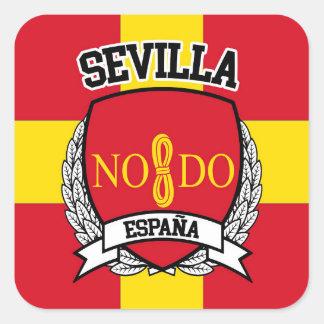 Sevilla Pegatina Cuadrada